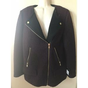 ZARA Lined Double Breasted Wool Blend Jacket